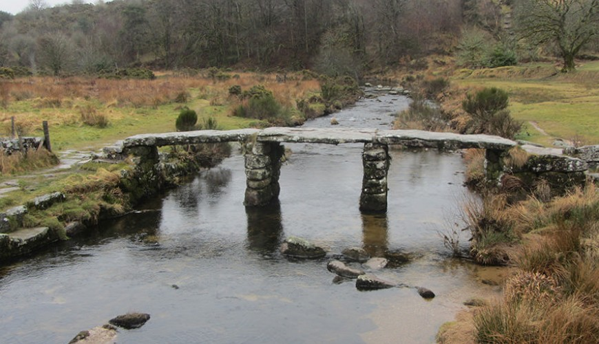 Clapper bridge on Dartmoor driver tour