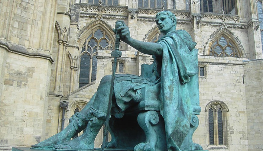Constantine the Great proclaimed Roman Emperor in York 306AD driver tour