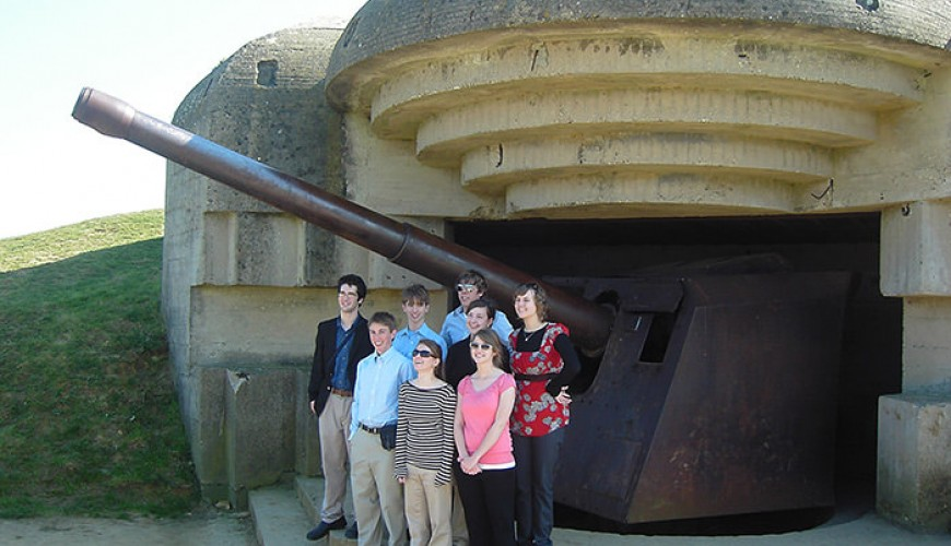 German gun emplacement at Longues, Normandy guided tour