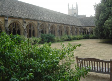 New College Oxford cloister driver tour