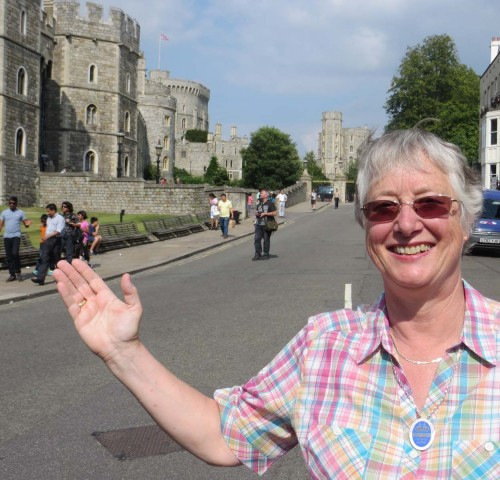 Robina Brown at Windsor Castle