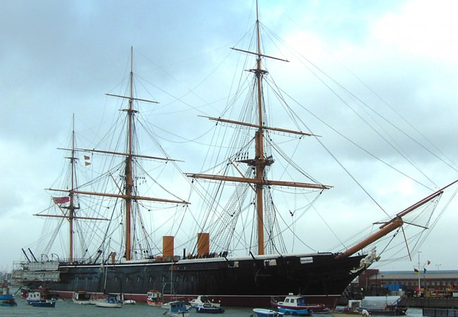 HMS Warrior Portsmouth driver tour