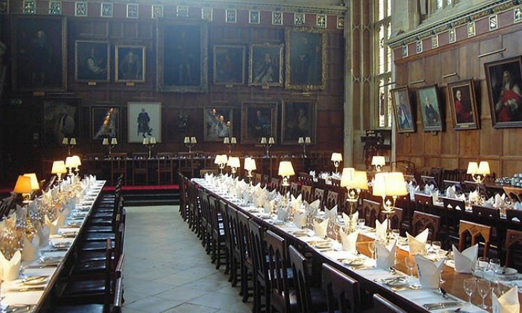 Dining Hall Christs Church College Oxford Hogwarts dining hall