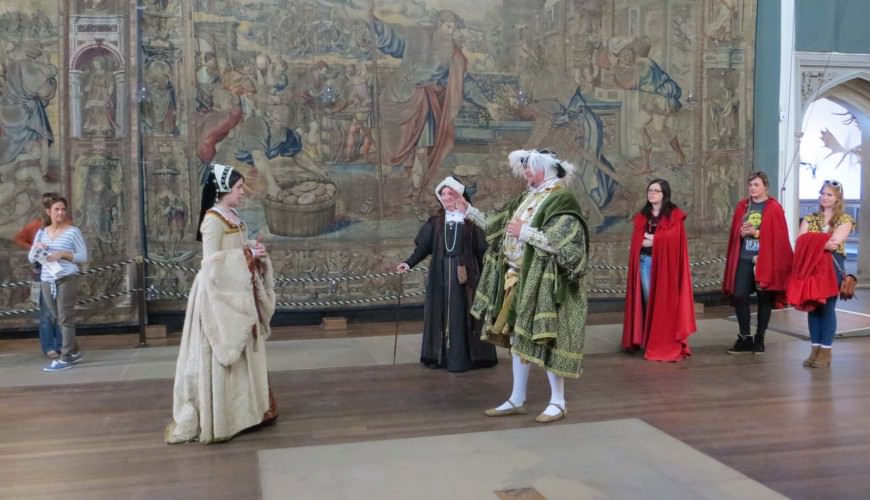 King Henry at Hampton Court Palace