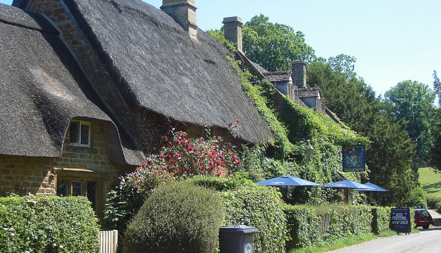 Great Tew thatched cottages